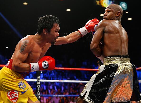 """La infame """"Pelea del Siglo"""" entre Floyd Mayweather Jr. y Manny Pacquiao..."""