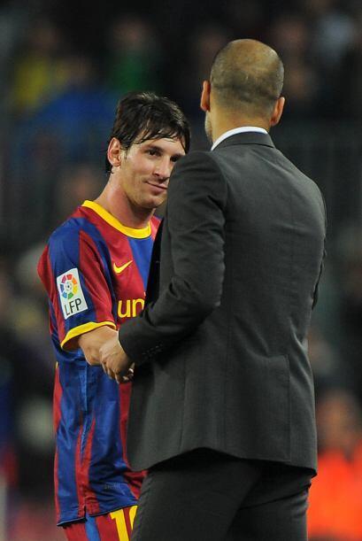 Ya con ese resultado, Guardiola decidió sacar a Messi para que la afició...