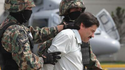 """Joaquín """"El Chapo"""" Guzmán en su segunda detención en 2014."""