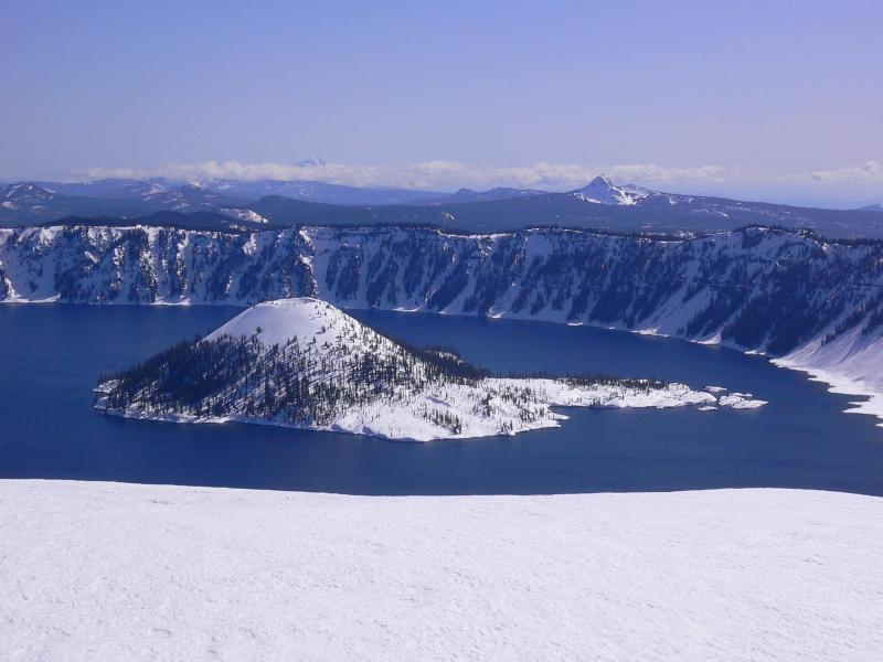 Así se ve el invierno en los parques nacionales de Estados Unidos CRATER...