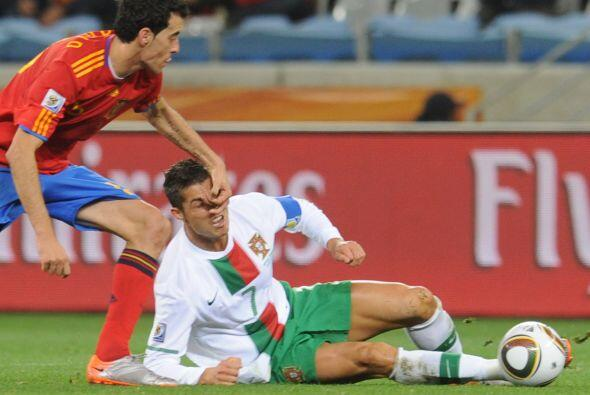 La descarga reflejó la frustración del astro del Real Madrid ante el jue...