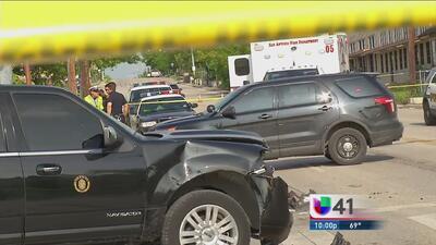 Auto de la alcaldesa no causó choque