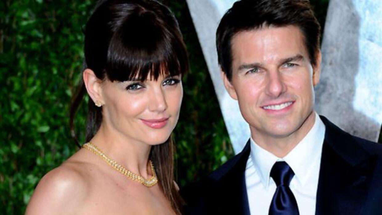 Katie Holmes y Tom Cruise en la fiesta de Vanity Fair, después del Oscar...