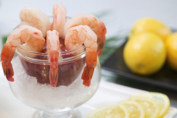 Cóctel de camarones No es malo comer mariscos de noche, siempre y...