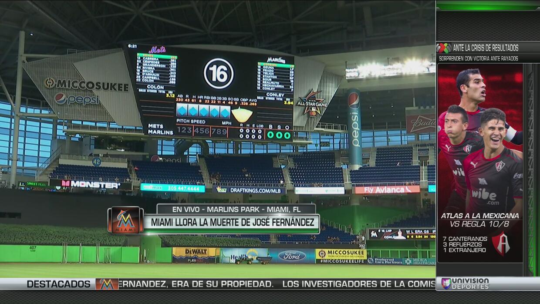 Homenaje a José Fernández: el Marlins Park se viste con el 16 por última...