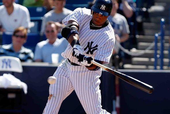 Segunda base, el dominicano de los Yankees, Robinson Canó, empujó 21 car...