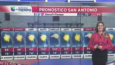 Fin de semana con temperaturas cálidas y condiciones secas en San Antonio