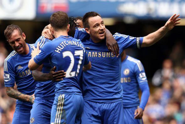 Con un gol de cabeza, el capitán Terry aportó para la victoria del equip...