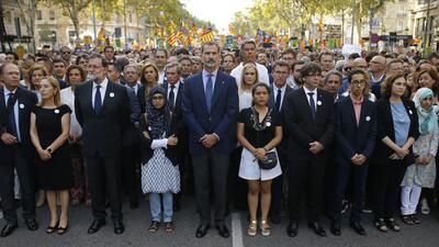 """""""No tengo miedo"""": Miles toman Barcelona en la marcha contra el terrorismo"""
