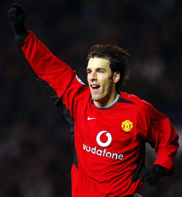 Temporada 2002/2003 - Ruud van Nistelrooy (Manchester United) con 12 goles.