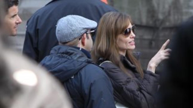 Angelina Jolie en Budapest, durante un momento de la preparación del rod...