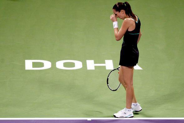 Jelena Jankovic se sintió mal durante el partido.