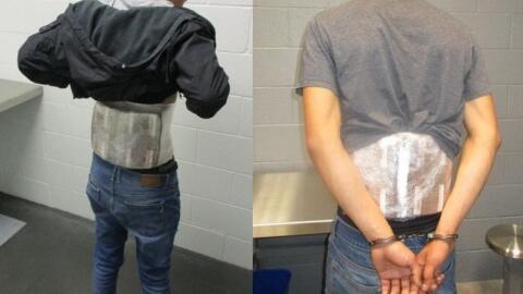 Dos adolescentes que fueron detenidos intentando contrabandear fentanilo...