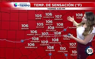 'Dallas en un Minuto': día supremamente caluroso, el pronóstico del clim...