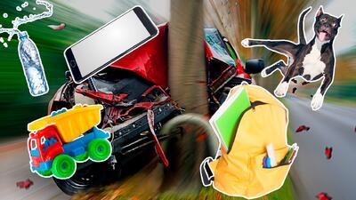 Objetos sueltos en la cabina de tu carro podrían costarte la vida