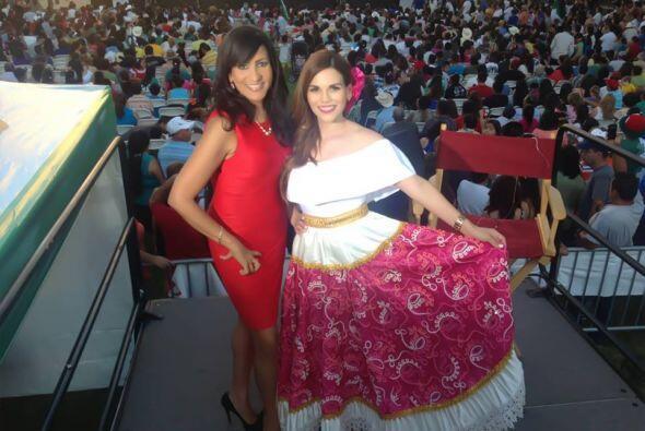 Karina Banda y Maribel López estuvieron animando el evento