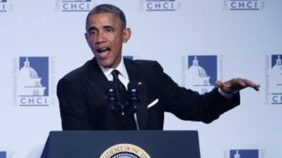 El presidente Barack Obama pronuncia un discurso en la 17 reunión anual...