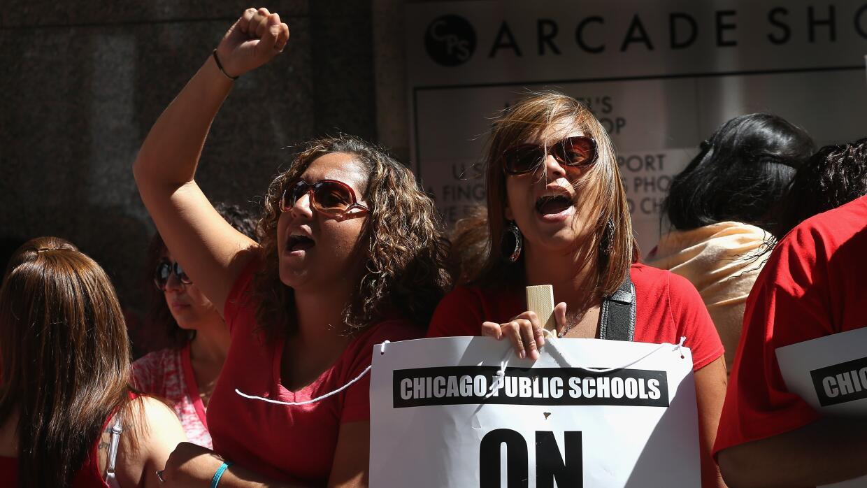 Huelga de maestros Chicago