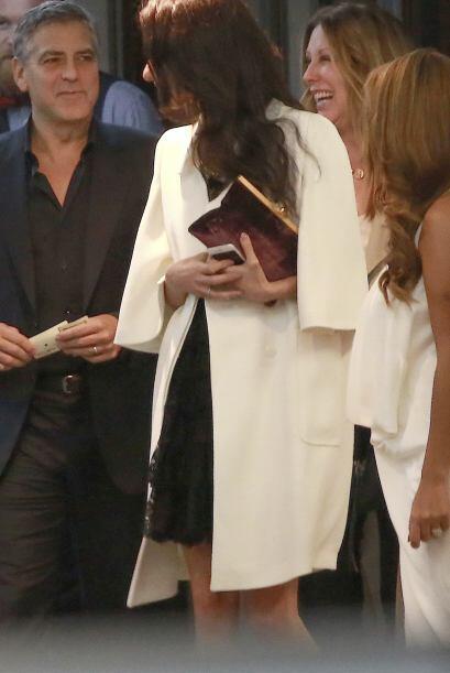 """""""Amal Clooney no está embarazada"""", dijo el representate."""