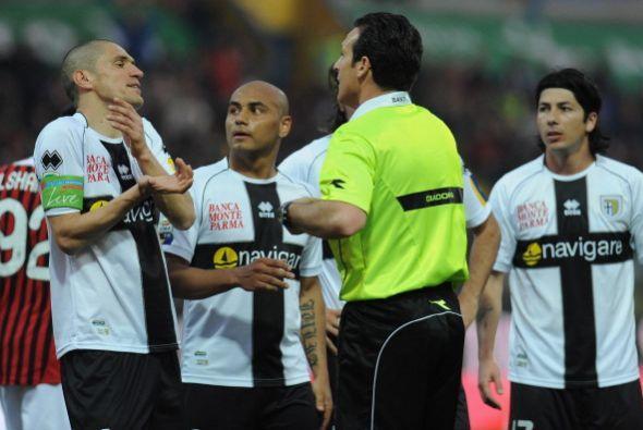 Se pudo ver mucho nerviosismo en los jugadores del Parma.