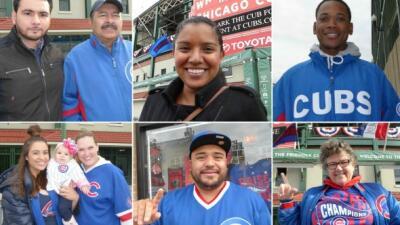 ¡Vamos Cubs! Los fanáticos en Chicago están entre la emoción y el nervio de una serie histórica