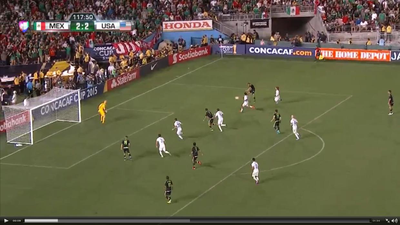 Mexico's third goal