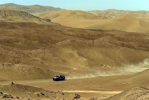 En esta etapa entre Iquique y Arica los competidores llegaron casi hasta...