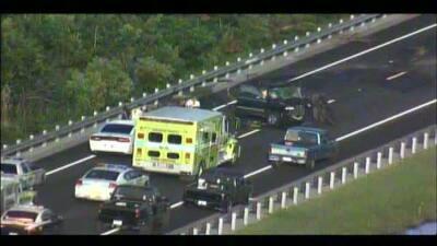 Impactantes las imágenes de accidente de auto en el Miami Trail