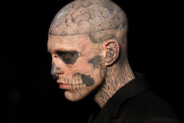 Rick Genest es sin duda, uno de los modelos más excéntricos actualmente.