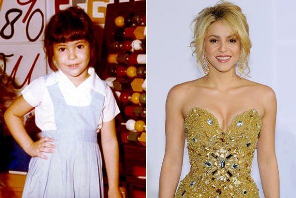 Shakira es otra de las bellas mujeres que desde pequeña demostró su enca...