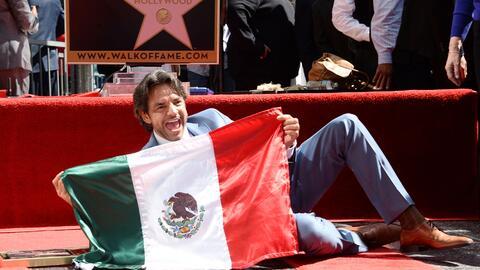 El actor méxico recibió su estrella en el 2016.