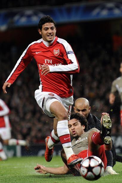 Carlos Vela milita en el Arsenal, aunque no se ha podido ganar un lugar...