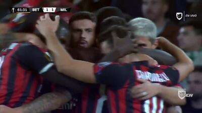 ¡GOOOL! Suso anota para Milan