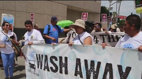 El sindicato de los trabajadores de lavaderos de autos cumple 10 años