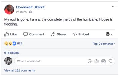 Roosevelt Skerrit, el primer ministro de Dominica, compartió en v...