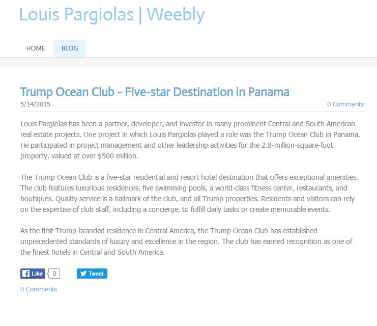 Esta es una de varias de las biografías que Pargiolas exponía en las red...