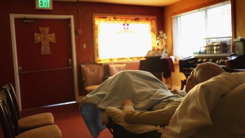 En el hospicio se brindaba atención a pacientes que no estaban mu...