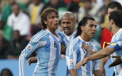 Gabriel Heinze, Juan Sebastián Verón y Carlos Tévez...