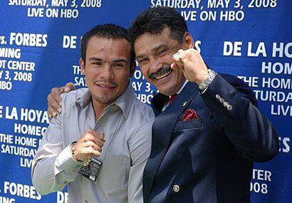 Alexis con otra leyenda, Juan Manuel Márquez.
