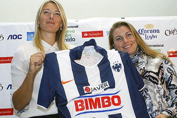 Los Rayados de Monterrey también son populares entre los famosos, Maria...