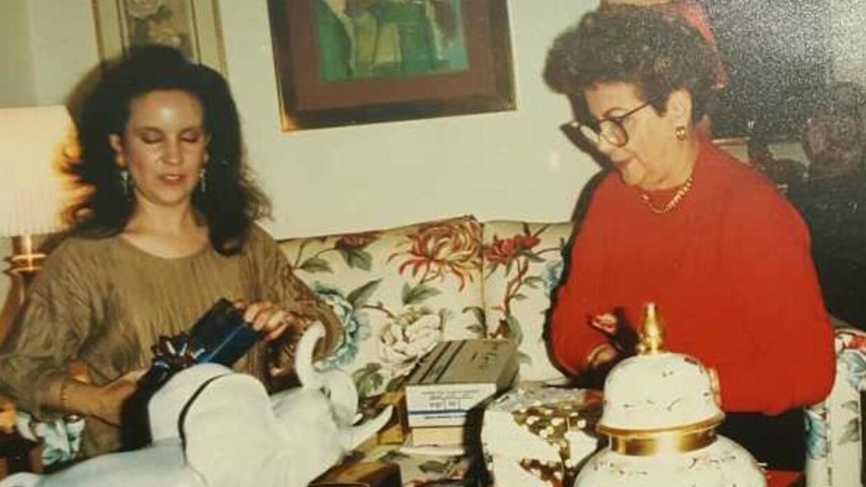 Luisa Echevarria y su mamá