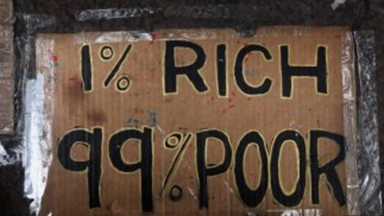 Uno de los varios letreros pintados por los organizadores del movimiento...