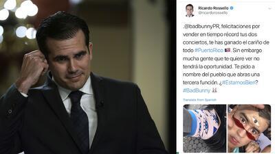 Alegan acuerdo entre Bad Bunny y Ricardo Roselló