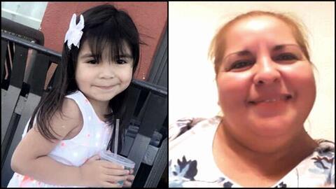 Aleysha Martínez, de 5 años, y su abuela, Luz María Garza Ramones, de 51.