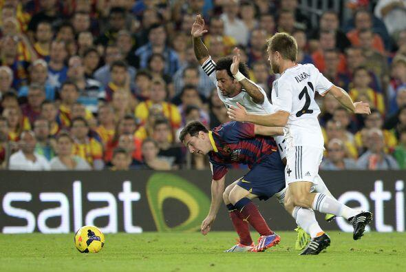 Messi tuvo la del 2-0 poco después del gol de Neymar, pero no era su día.