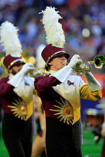 Antes del arranque del partido sonó la Banda de la Estatal de Arizona.