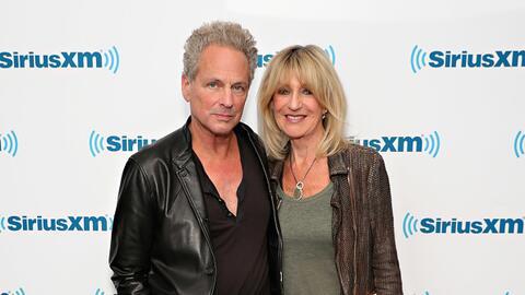 NEW YORK, NY - JUNE 09: Lindsey Buckingham and Christine McVie visit the...