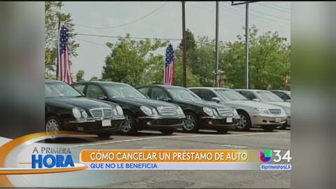 ¿Cómo cancelar un préstamo automotriz que no le beneficia?