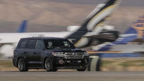 Toyota Land Speed Cruiser batiendo el record de velocidad en Mohave