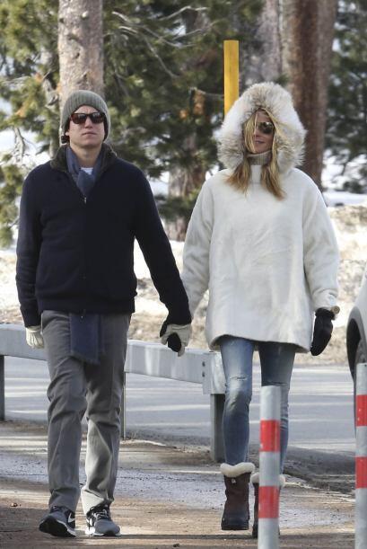 La súper modelo y Vito visitaron la comunidad de Sankt Moritz.